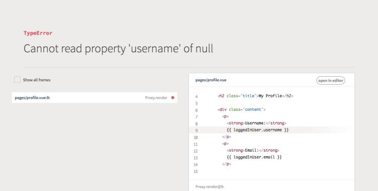 Authentication in a Nuxt js App