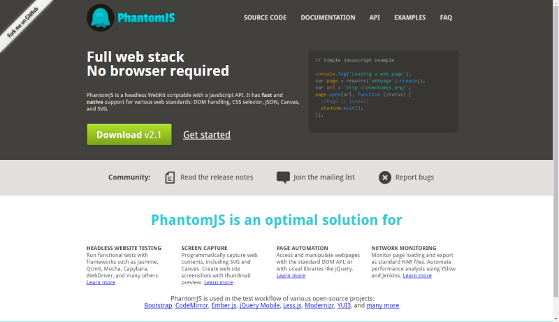 What is PhantomJS