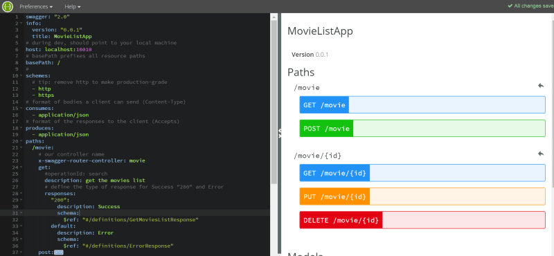 Speed up your RESTful API development in Node js with Swagger