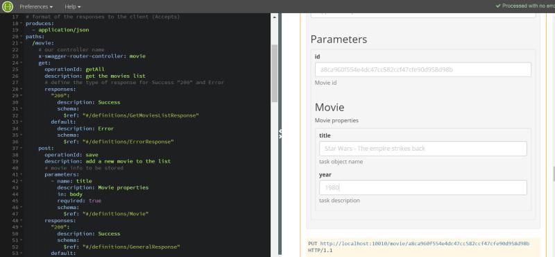 RESTful API development
