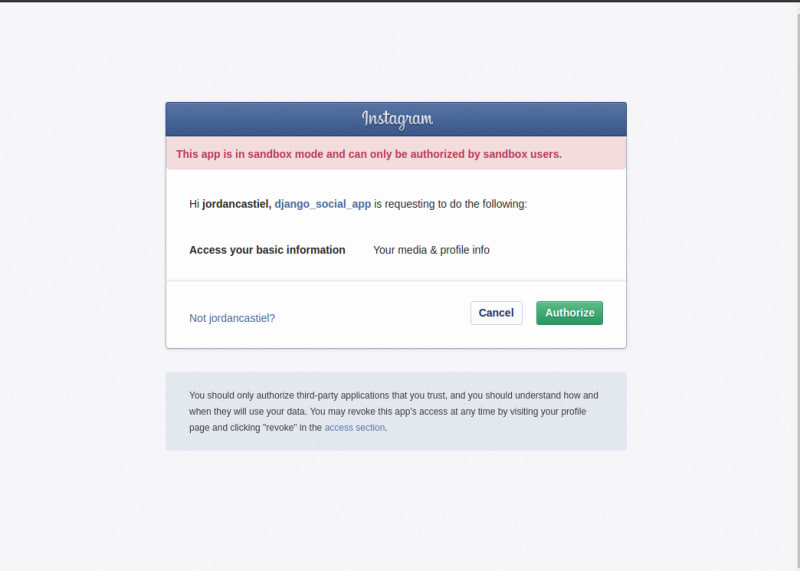 Django Authentication With Facebook, Instagram and LinkedIn