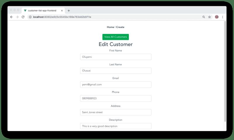 Building a modern app using Nest js, MongoDB and Vue js
