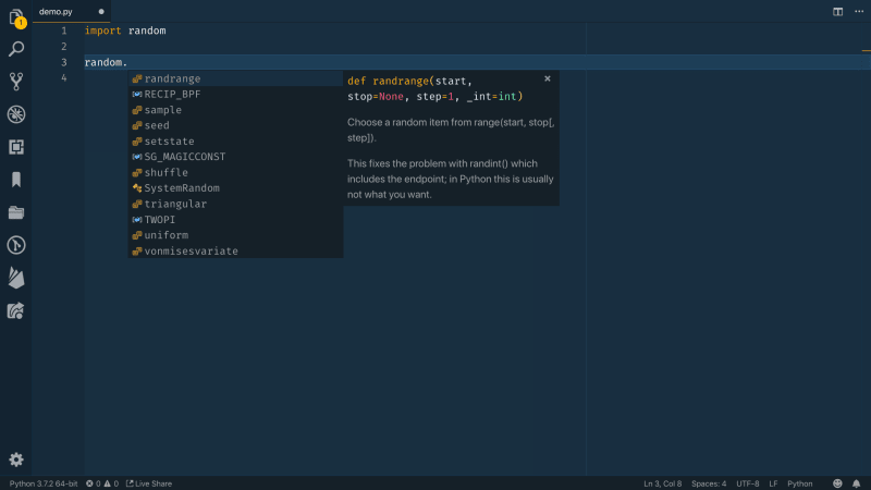 Getting Started with Python in Visual Studio Code