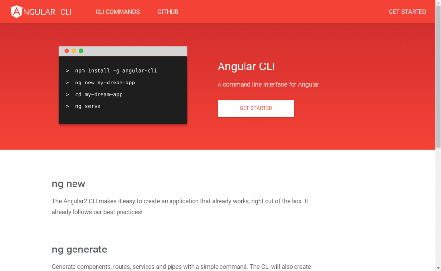 Use the Angular CLI For Faster Angular v2+ Projects ― Scotch io
