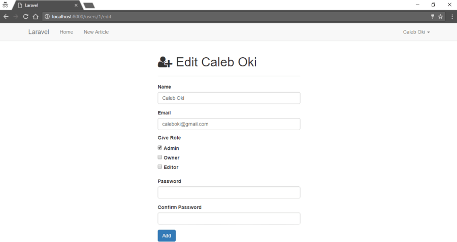 User Authorization in Laravel 5 4 with Spatie Laravel