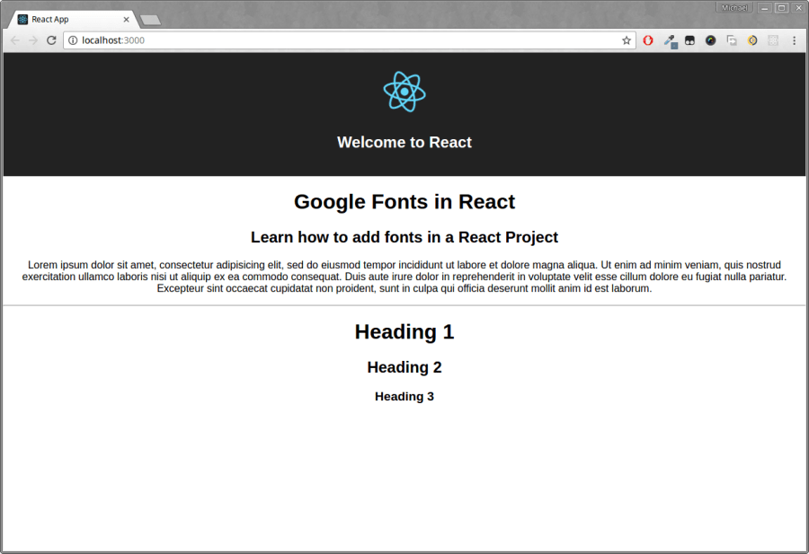 How to add Fonts to a React Project ― Scotch io