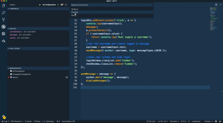 Debugging JavaScript in Google Chrome and Visual Studio Code ― Scotch io