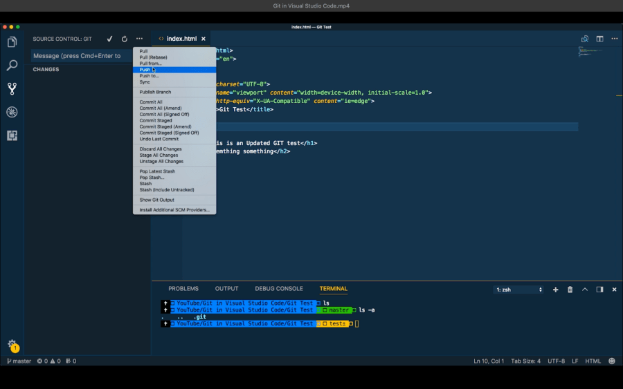 Git Integration in Visual Studio Code ― Scotch io