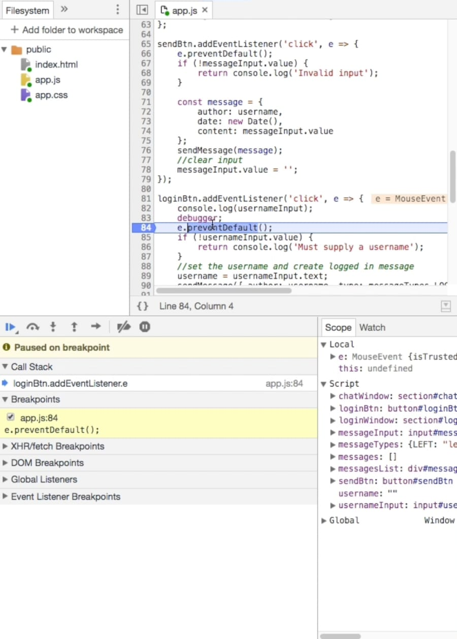 Debugging JavaScript in Google Chrome and Visual Studio Code ― Scotch io