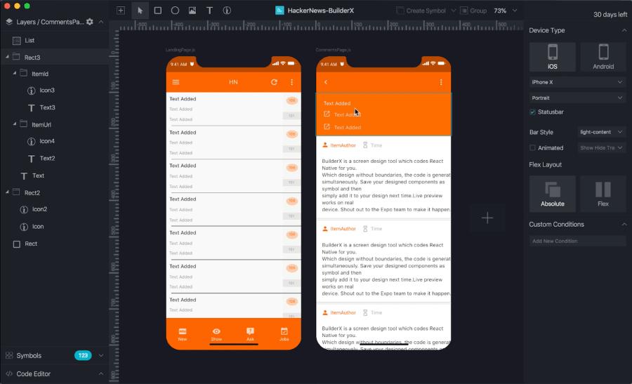 Building a React Native app as a Designer using BuilderX ― Scotch io