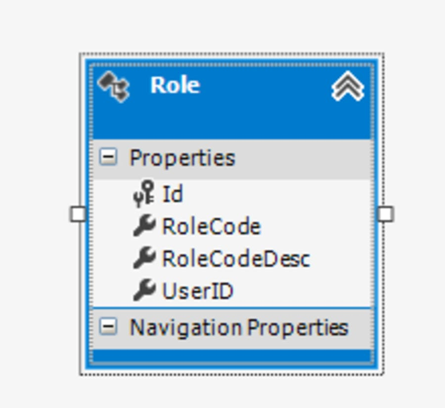 User Role Based dynamic Navigation from SQL database Entity