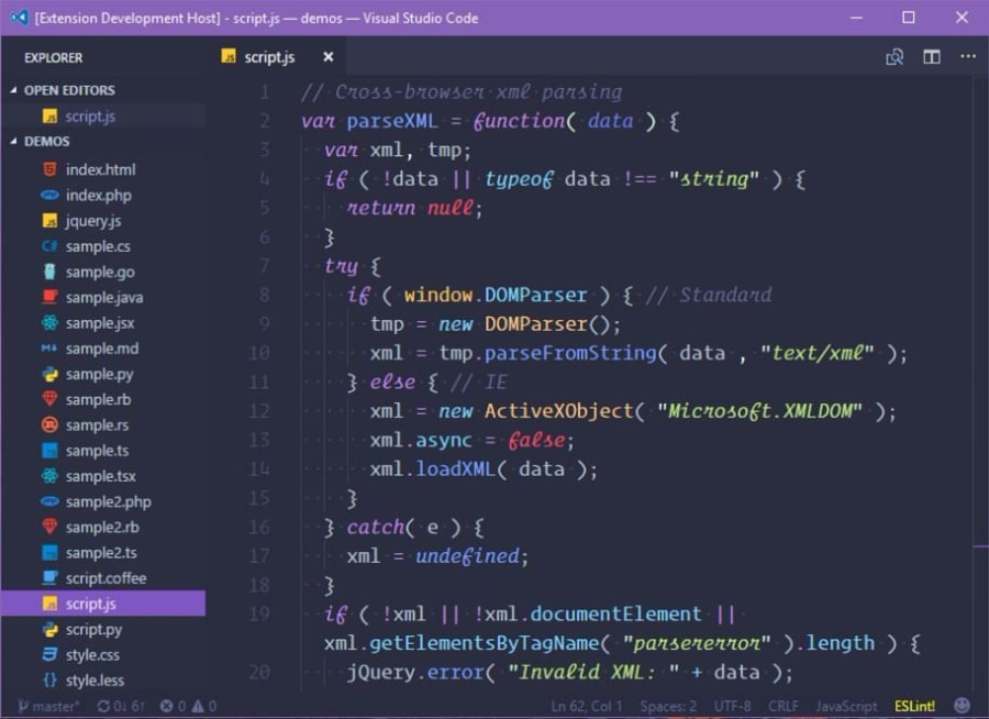 Best VS Code Themes of 2017 ― Scotch io