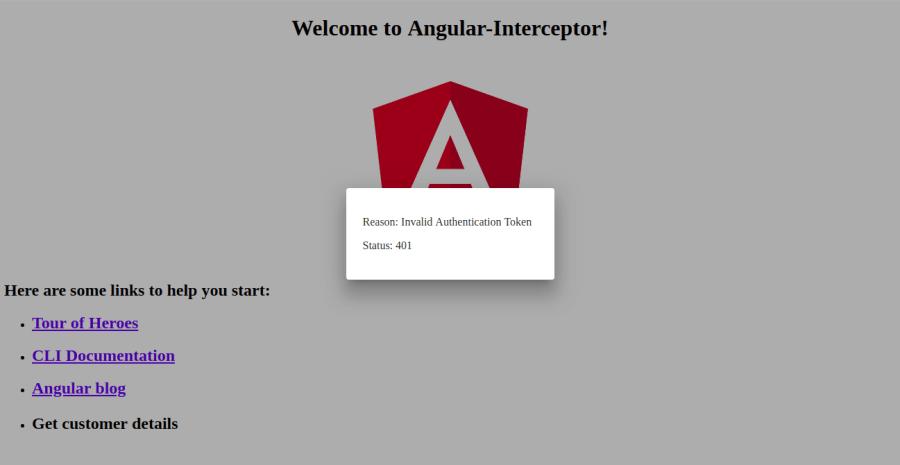 Angular 6 & 7 HTTP Client Interceptor with Error handling