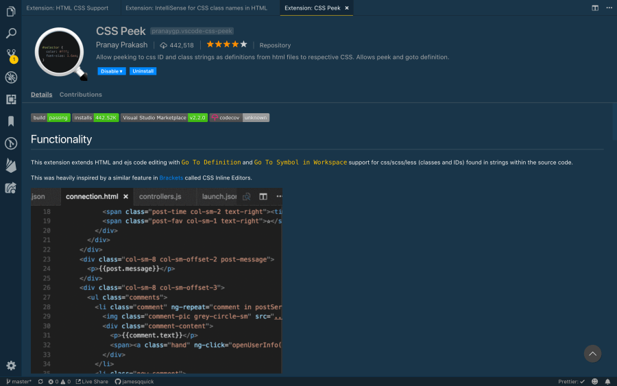 6 Awesome CSS Extensions for VS Code ― Scotch io