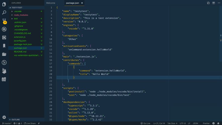 Create Your First Visual Studio Code Extension ― Scotch io