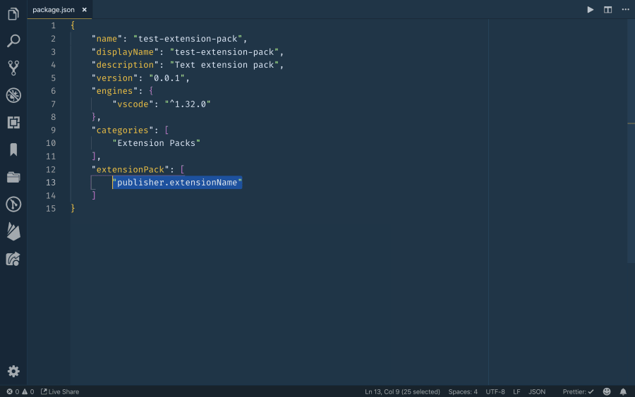 Creating an Extension Pack for Visual Studio Code ― Scotch io