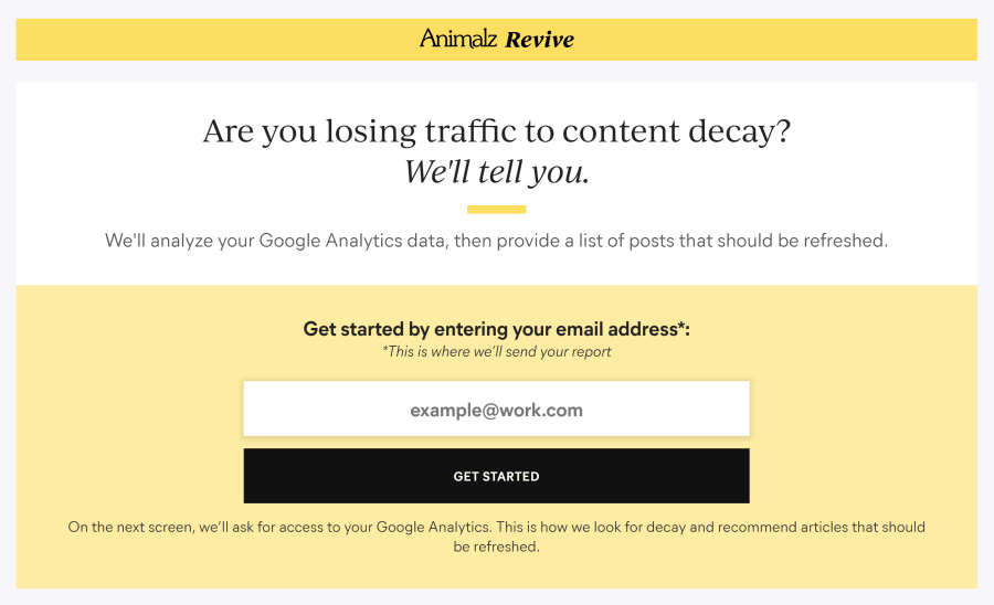 Revive: A Free Tool that Analyzes Your Traffic and Finds the Content