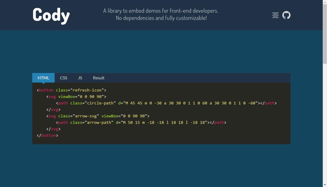 How to Customize Embedded Demos with Cody js ― Scotch io