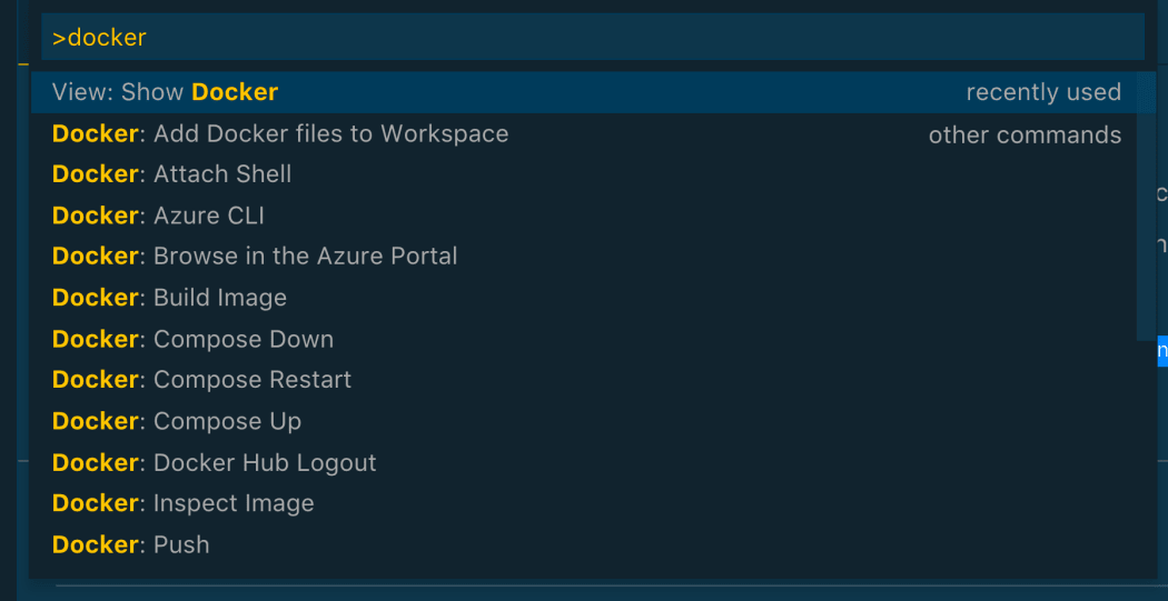 docker compose run command