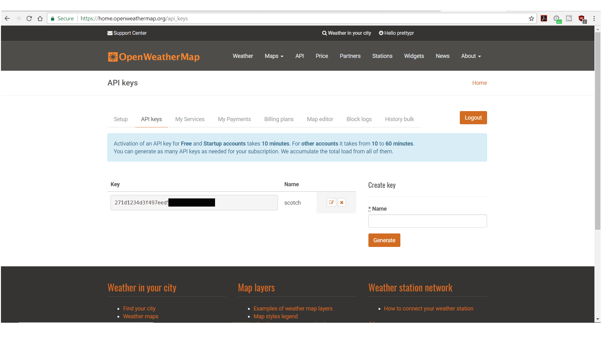 Open Weather Map Dashboard