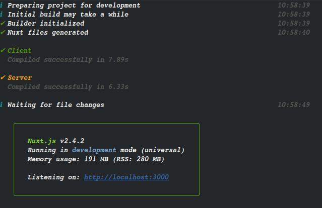 Application in development mode