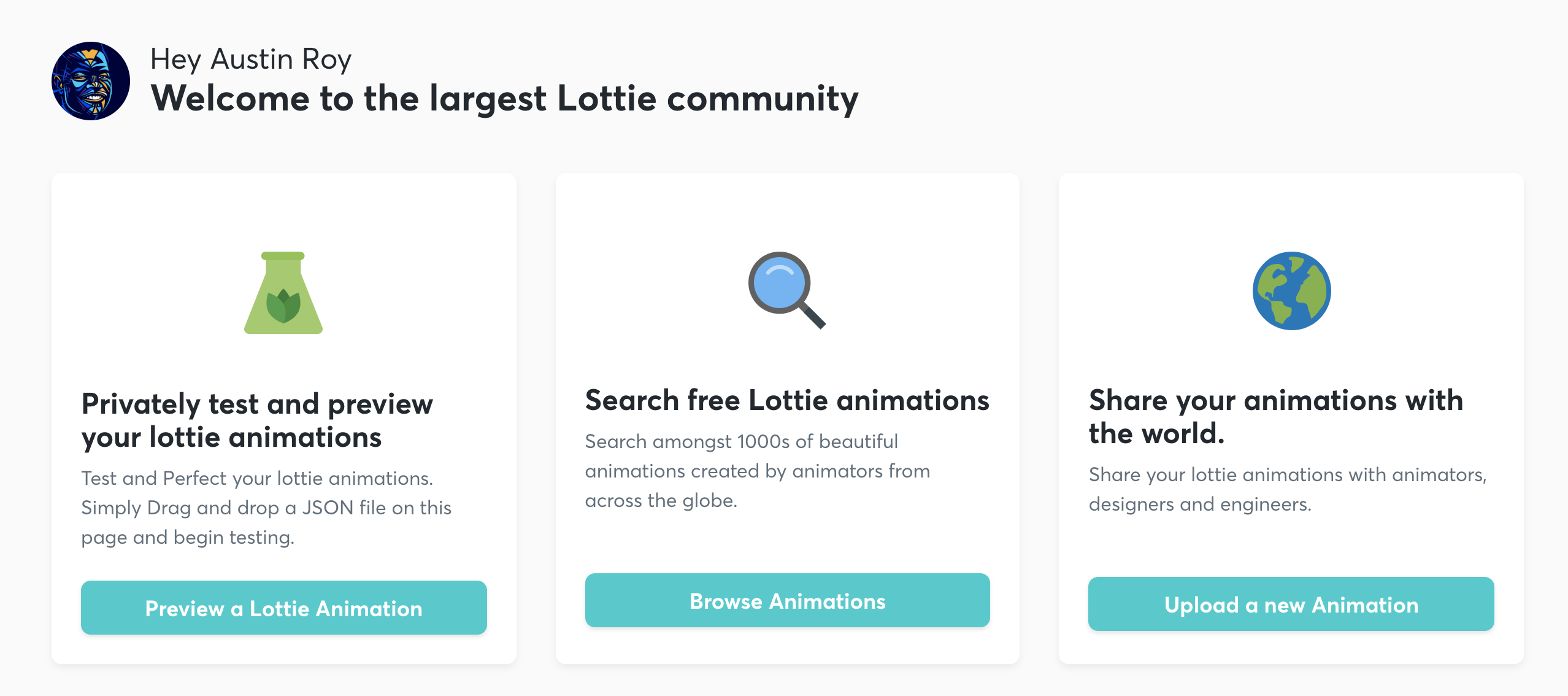 Lottie Files menu