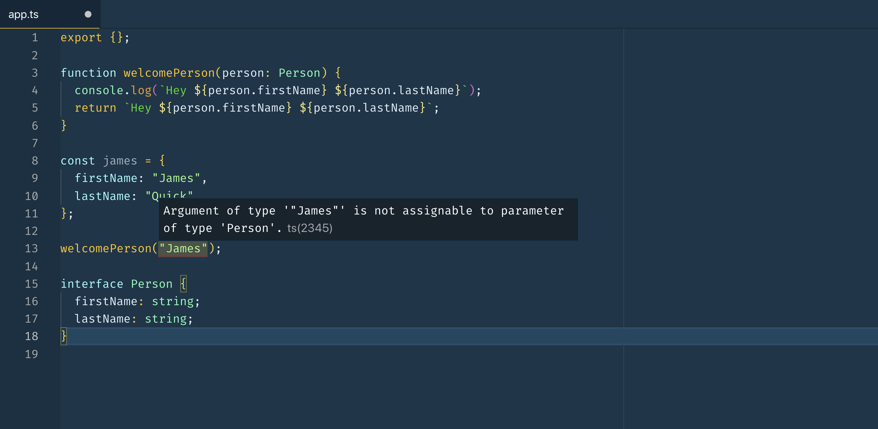 The code from the previous block in VS Code