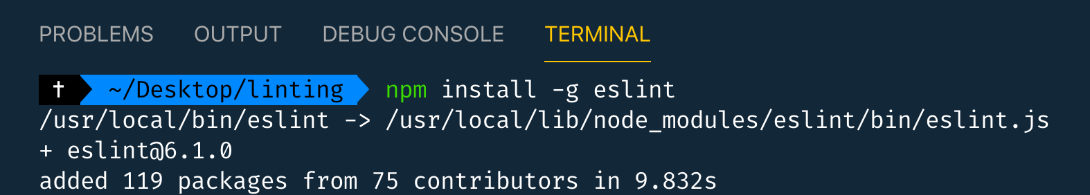 npm install eslint