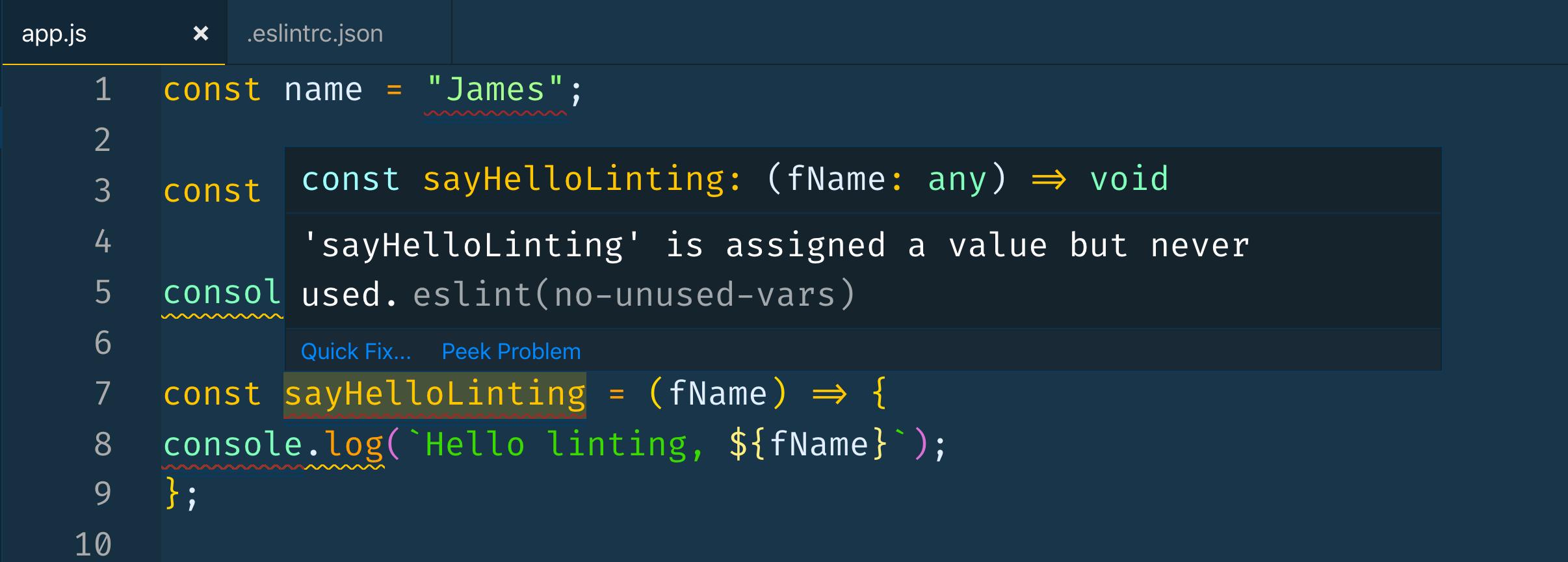 Unused code error