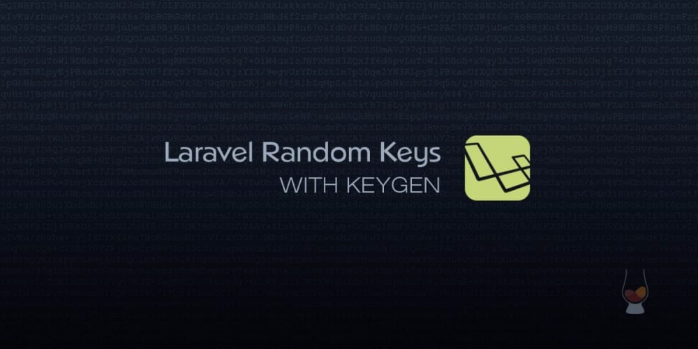 Laravel Random Keys with Keygen