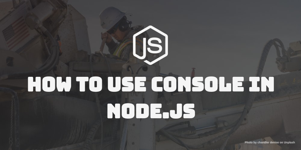 How to use console in node.js
