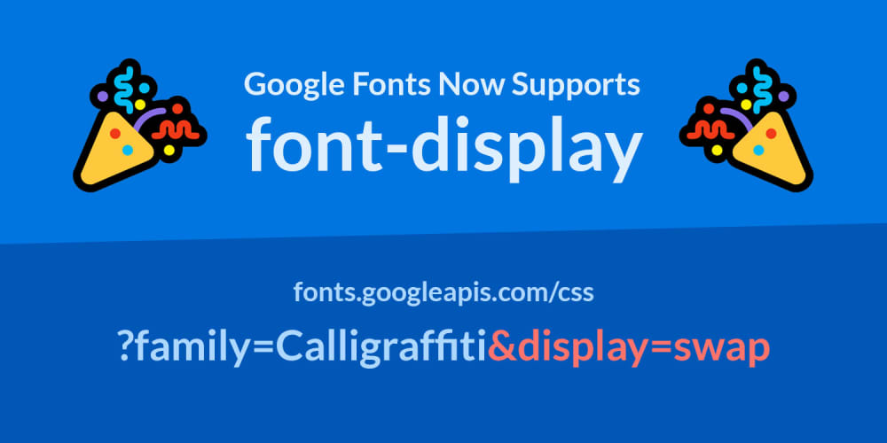 Google Fonts Now Supports font-display!