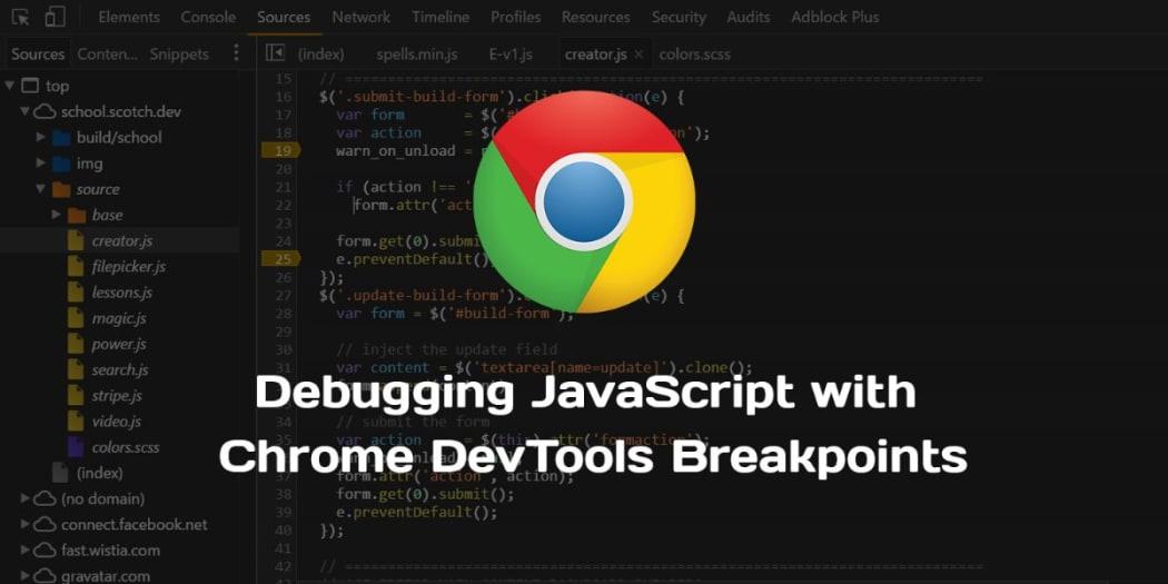 Debugging JavaScript with Chrome DevTools Breakpoints