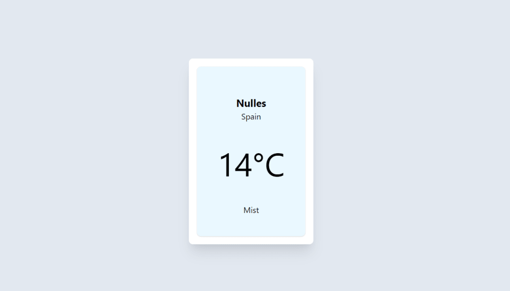 Building a Location Aware Weather Reporting Widget