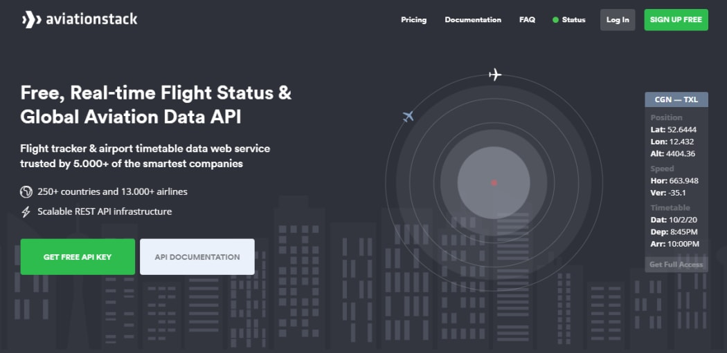 Flight Tracking with aviationstack Real-Time Flight Tracking API