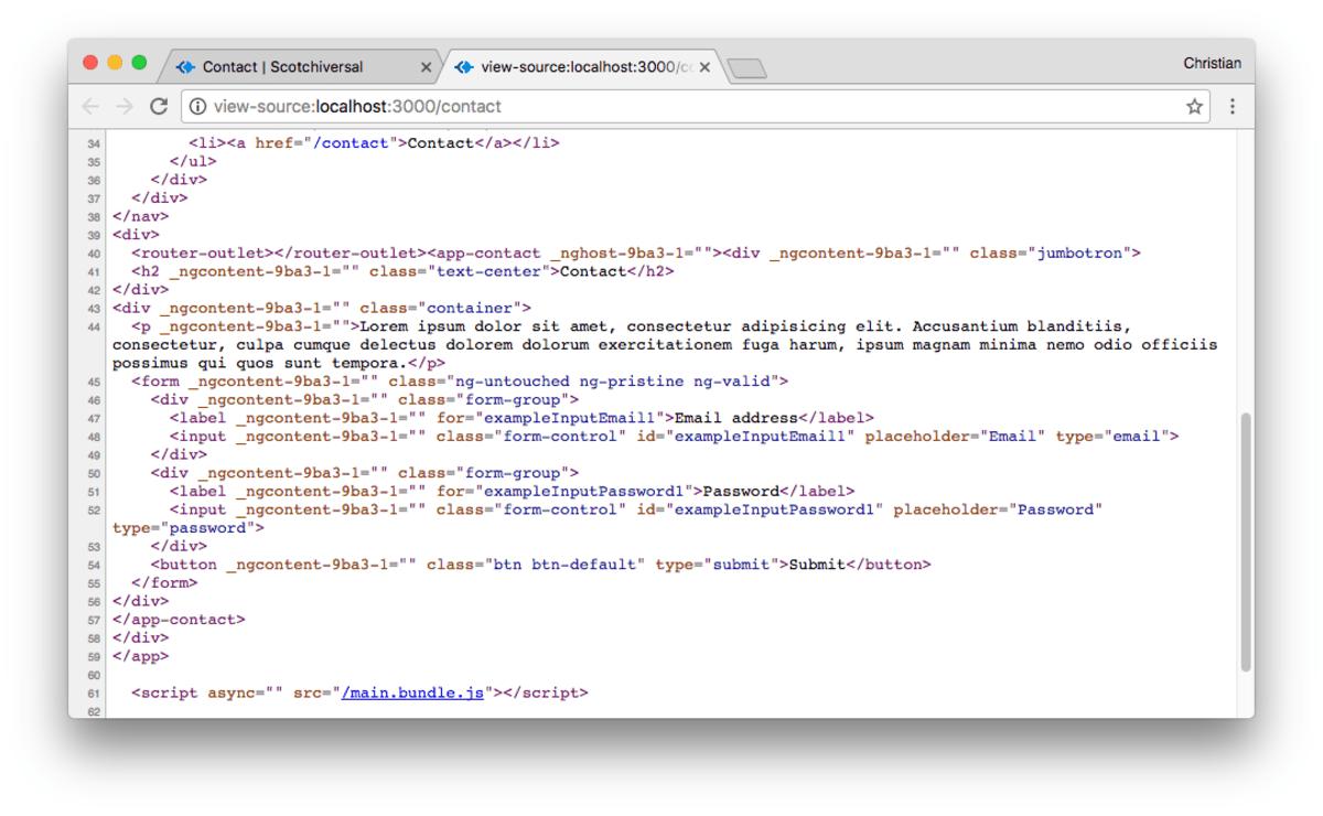 Server-Side Rendering in Angular 2 with Angular Universal ― Scotch io