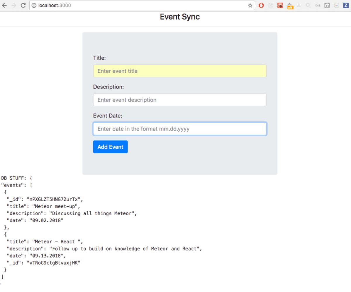Building an Events App with Meteor and React ― Scotch io