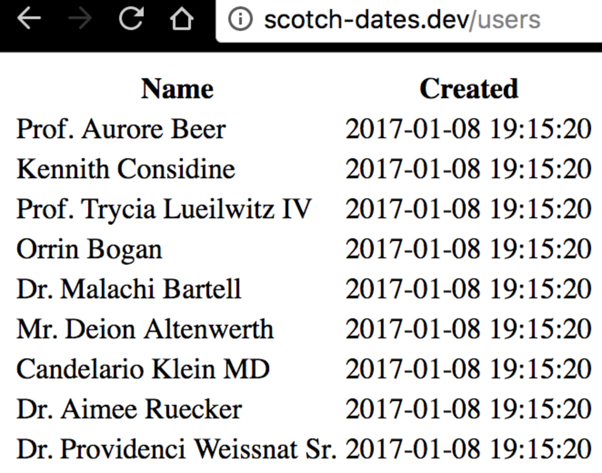 Quick Tip: Display Dates Relatively in Laravel ― Scotch io