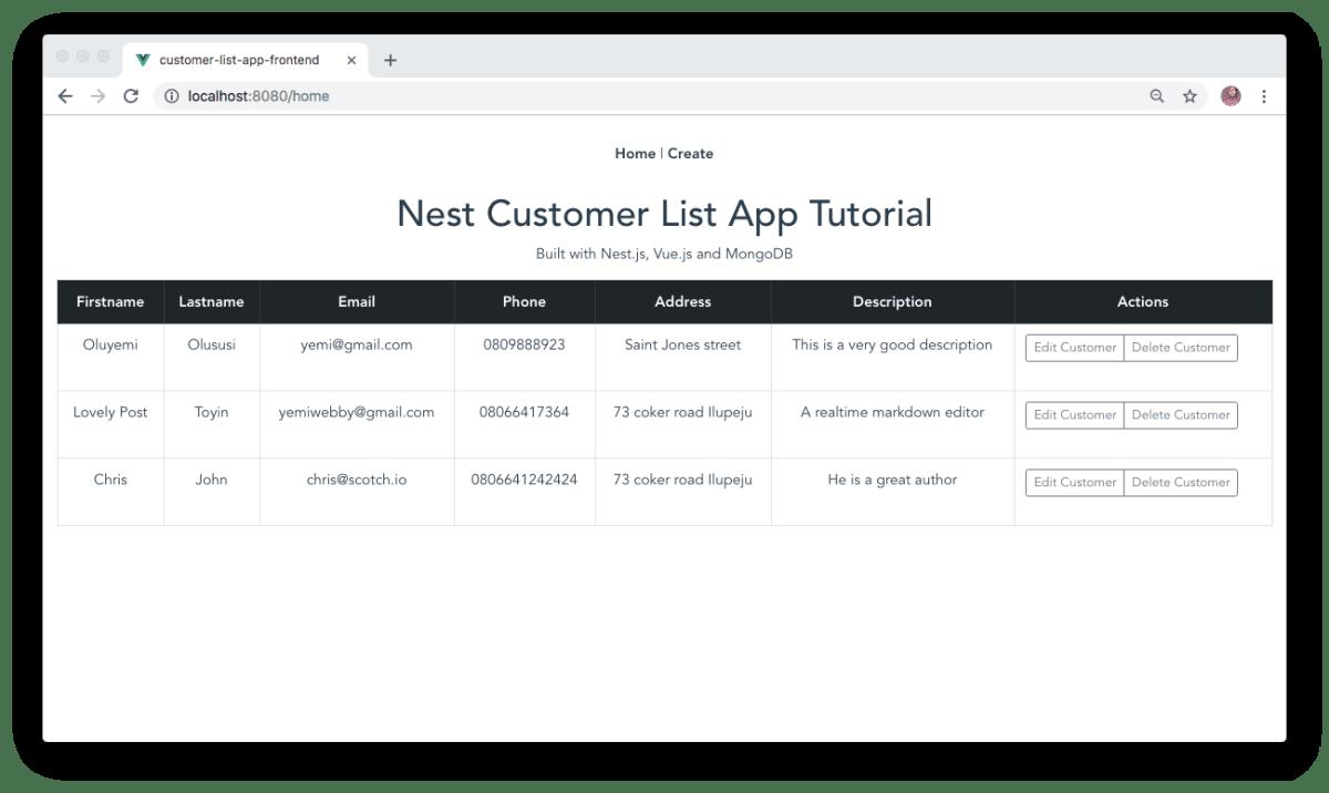 Building a modern app using Nest js, MongoDB and Vue js ― Scotch io