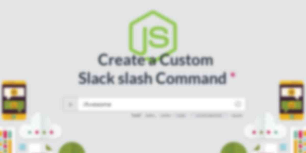 Create a custom Slack slash command with Node.js and Express