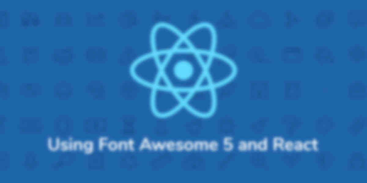 Using Font Awesome 5 with React