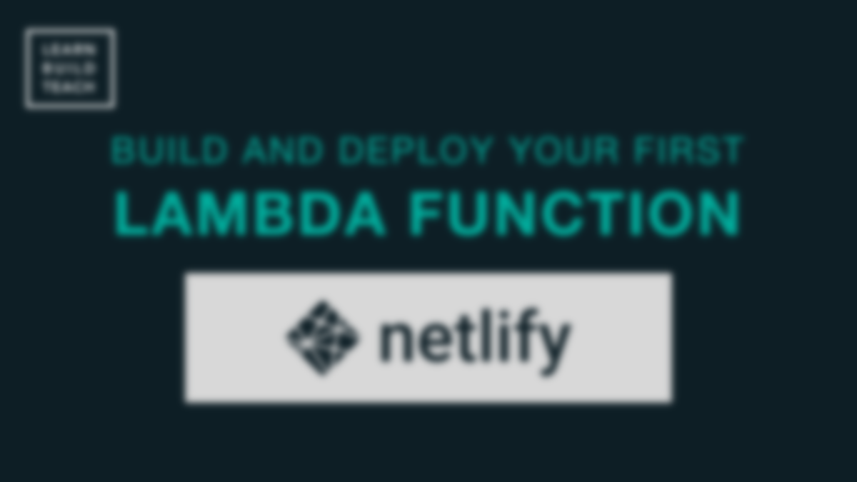 Build and Deploy a Serverless Function to Netlify