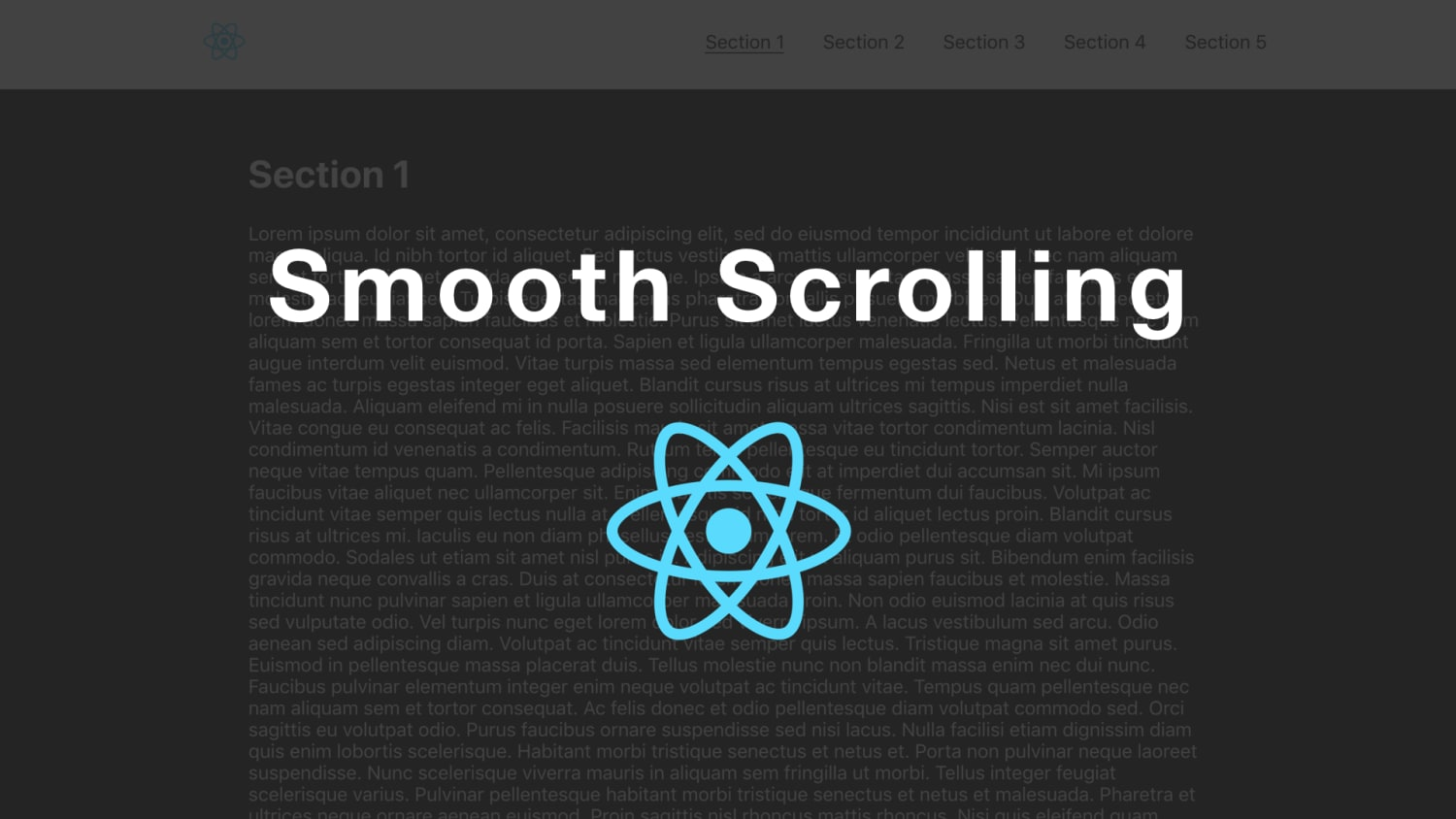 Implementing Smooth Scrolling in React ― Scotch io
