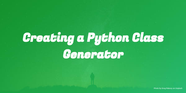 Creating a Python Class Generator for VS Code