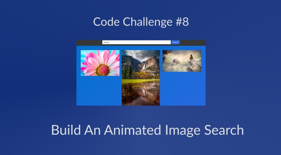 Code Challenge #8: Build An Animated Image Search