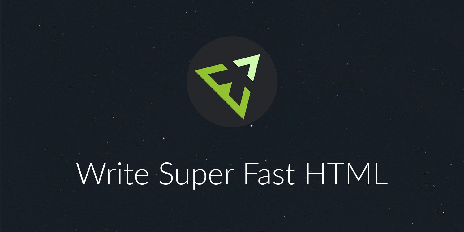 Write HTML Super Fast with Emmet