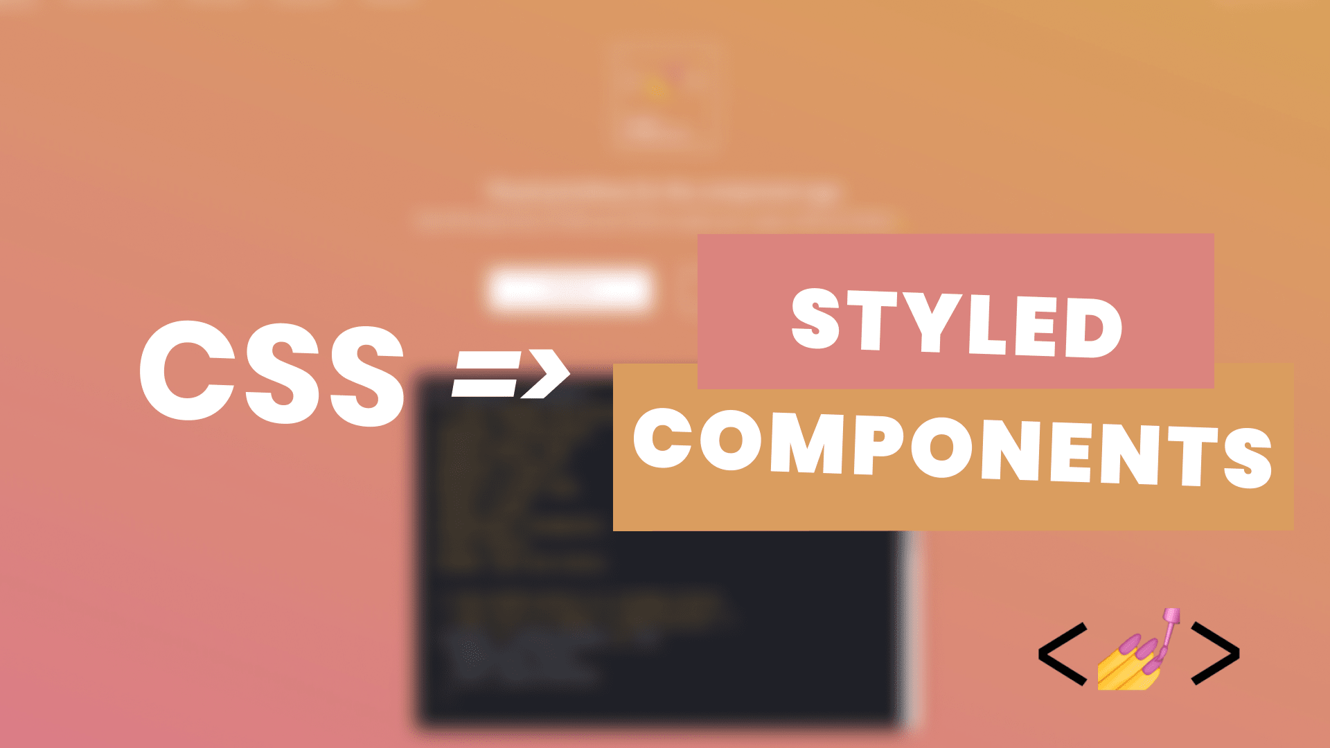 Converting CSS In React to Styled Components.